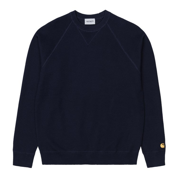 Carhartt WIP Chase Sweater Dark Navy / Gold