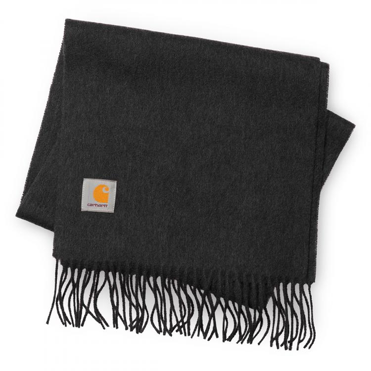 Carhartt WIP Clan Scarf Wool Dark Grey Heather