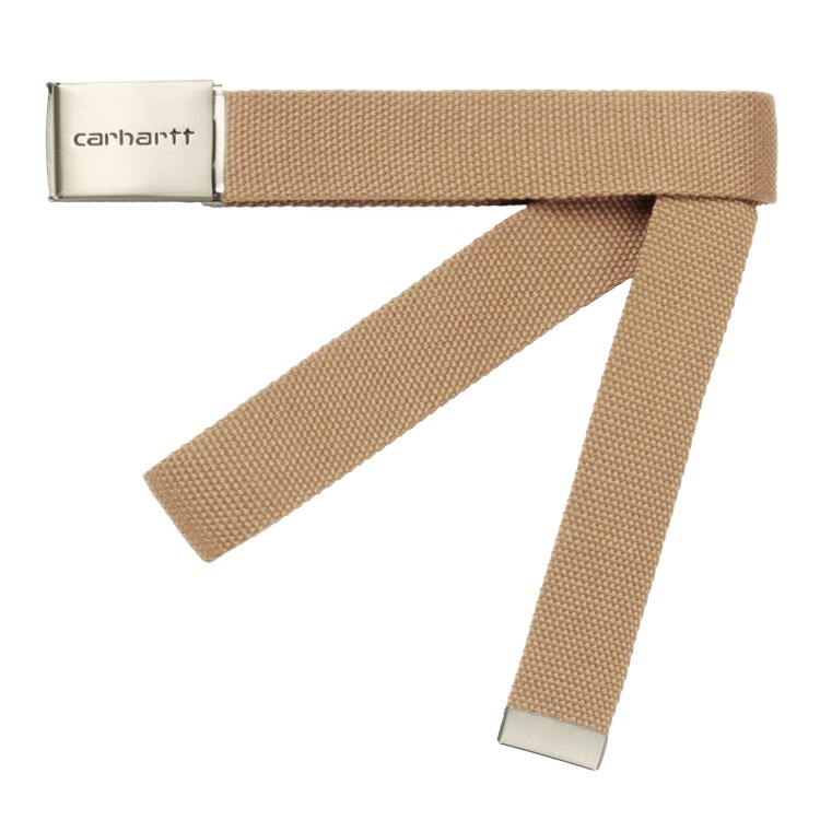 Carhartt WIP Clip Belt Chrome Dusty H Brown