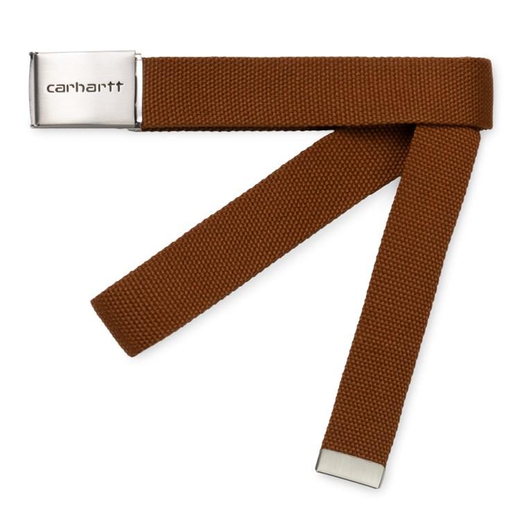 Carhartt WIp Clip Belt Chrome Brandy