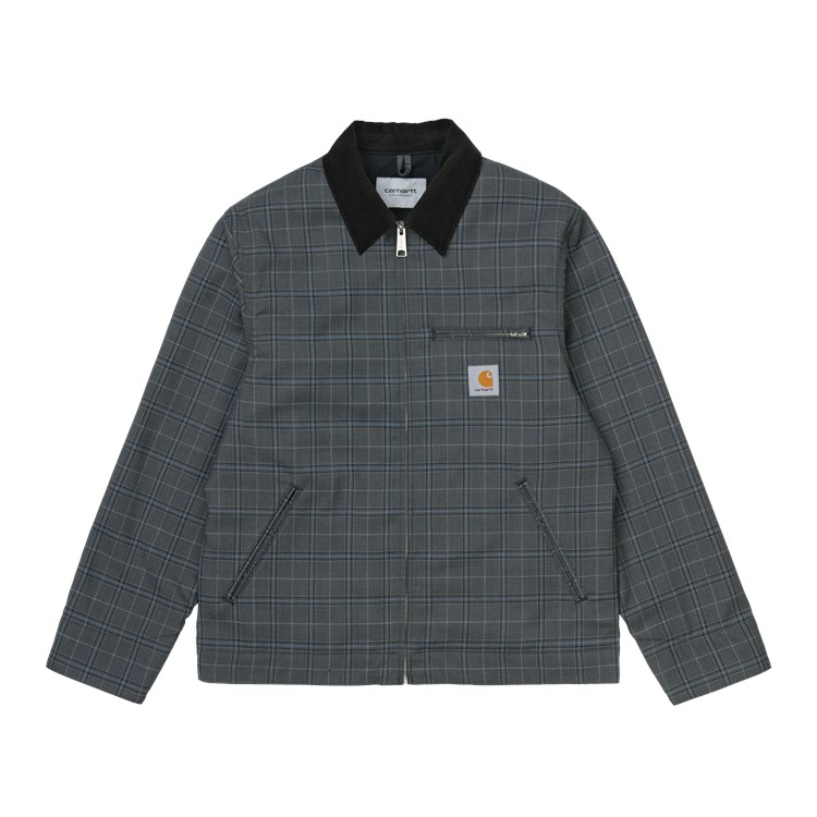 Carhartt WIP Detroit Jacket Stowe Check, Wave Rigid