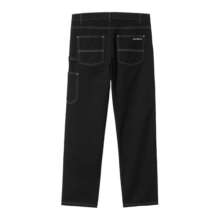 Double Front Pant Black Rinsed