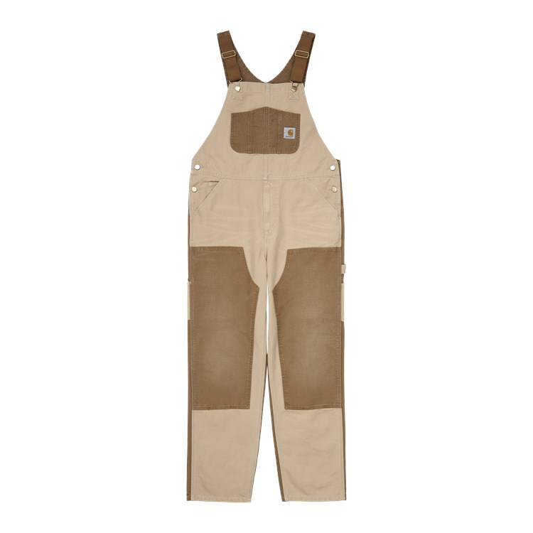 Double Knee Bib Overall Dusty H Brown / Hamilton Brown