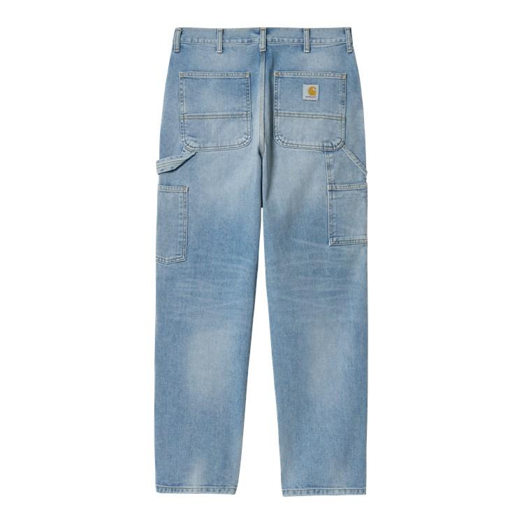 Double Knee Pant Blue Light Used Wash