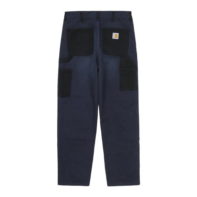 Double Knee Pant Black / Dark Navy