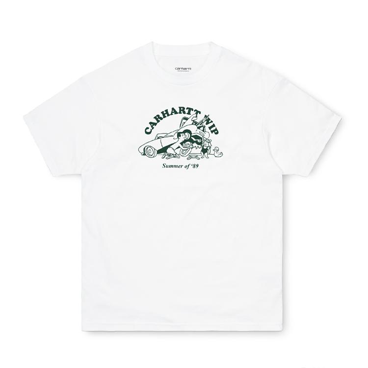 Carhartt WIP S/S Flat Tire T-Shirt White