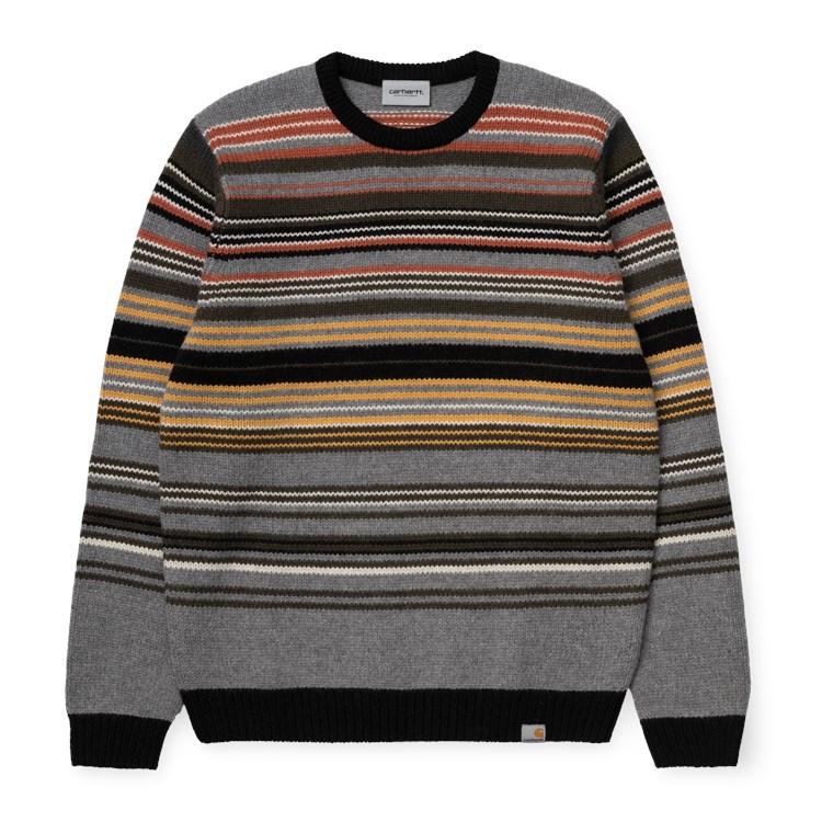 Carhartt WIP Carhartt WIP Gordon Sweater Dark Grey Heather