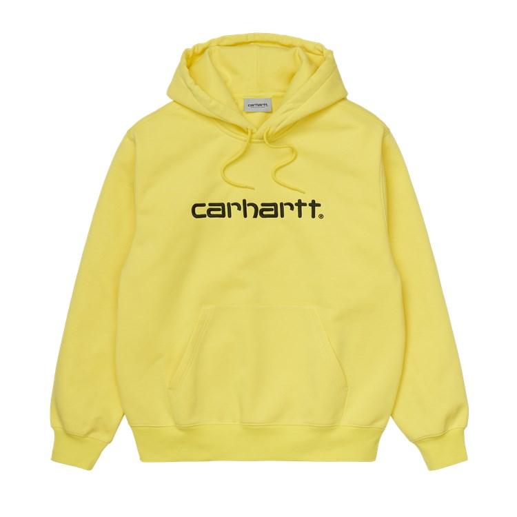 Carhartt WIP Hooded Carhartt Sweat Limoncello / Black