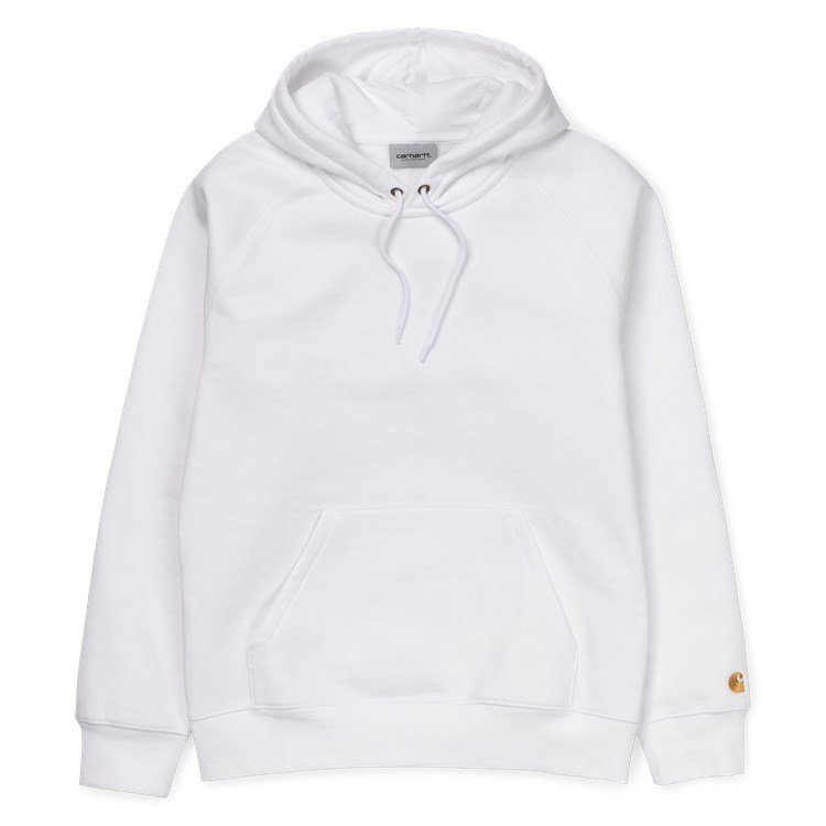 Carhartt WIP Hooded Chase Sweat White / Gold