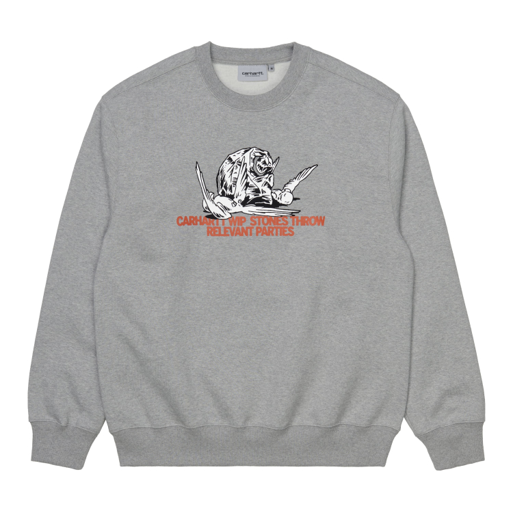 Carhartt WIP Stones Throw Sweatshirt Grey Heather
