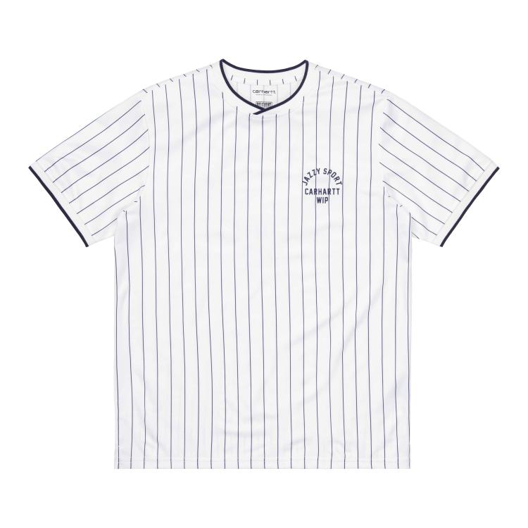 Carhartt WIP S/S Jazzy Sport Jersey White