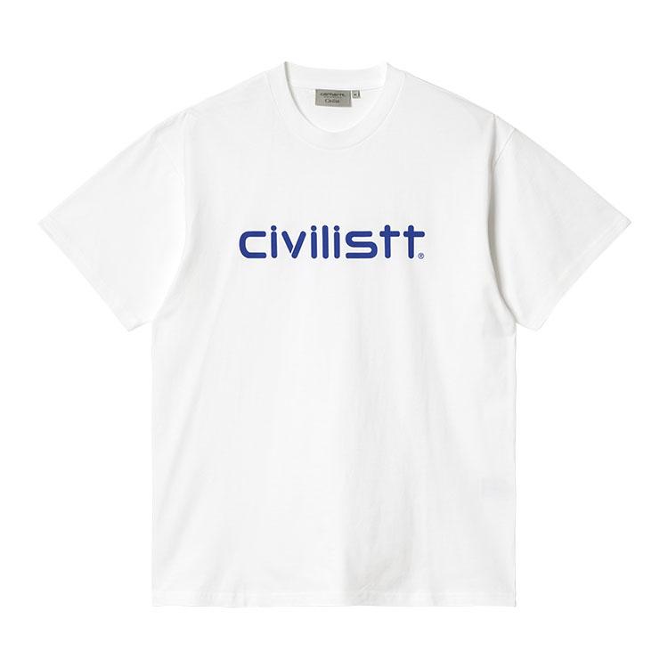 Civilist Script T-Shirt White