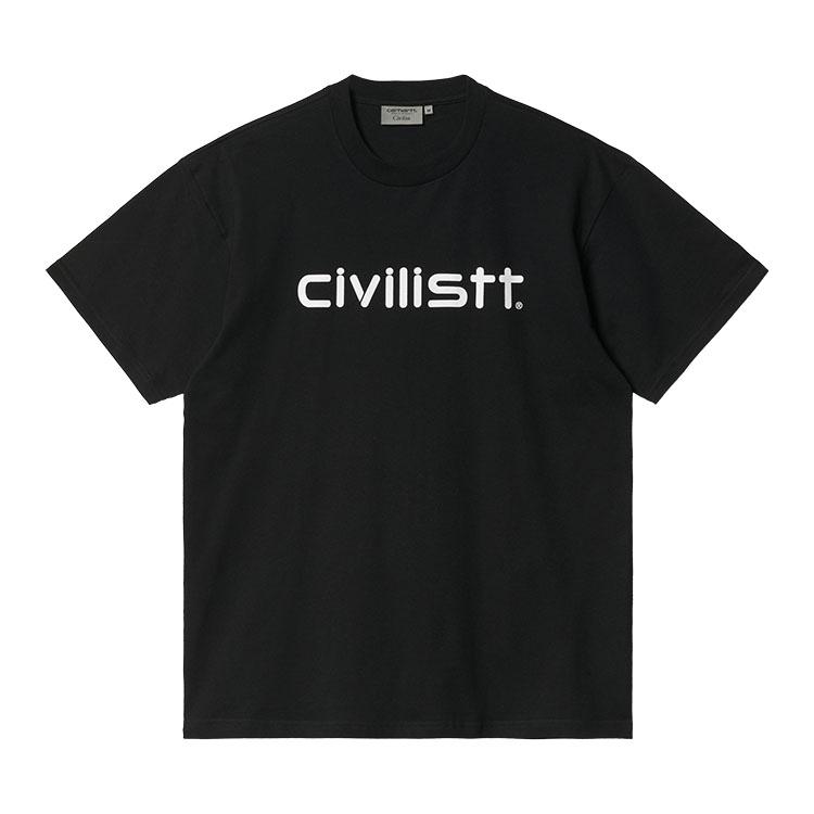 Civilist Script T-Shirt Black