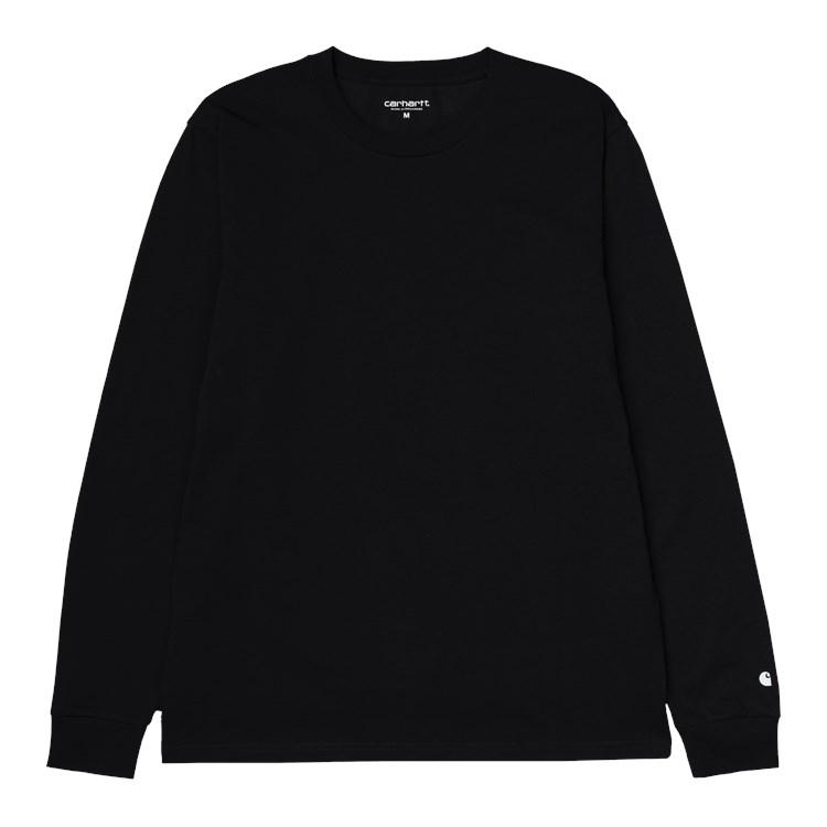 L/S Base T-Shirt Black / White