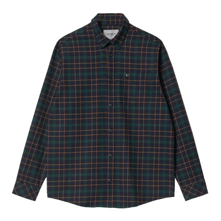 L/S Baxter Shirt Dark Navy / Grove