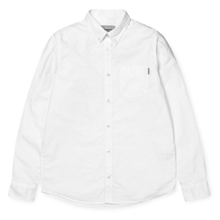 L/S Button Down Pocket Shirt White