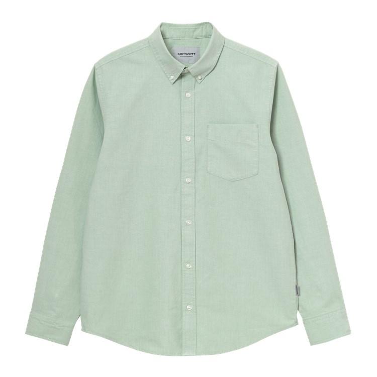 Carhartt WIP L/S Button Down Pocket Shirt Mineral Green