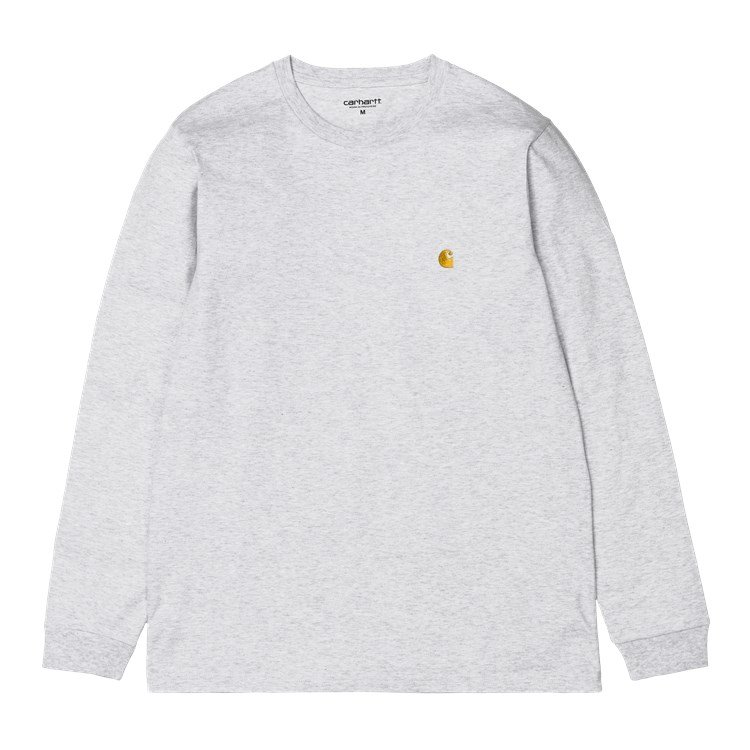 Carhartt WIP L/S Chase T-Shirt Ash Heather