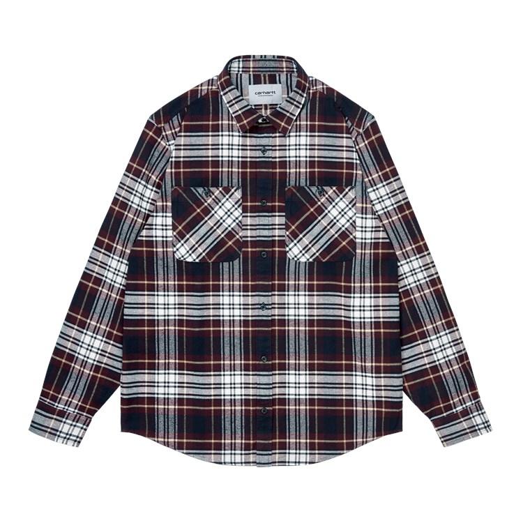 L/S Dunbar Shirt Check Wine