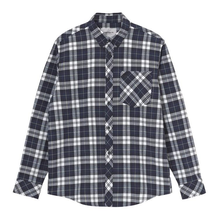 Carhartt WIP L/S Irvin Shirt Blue