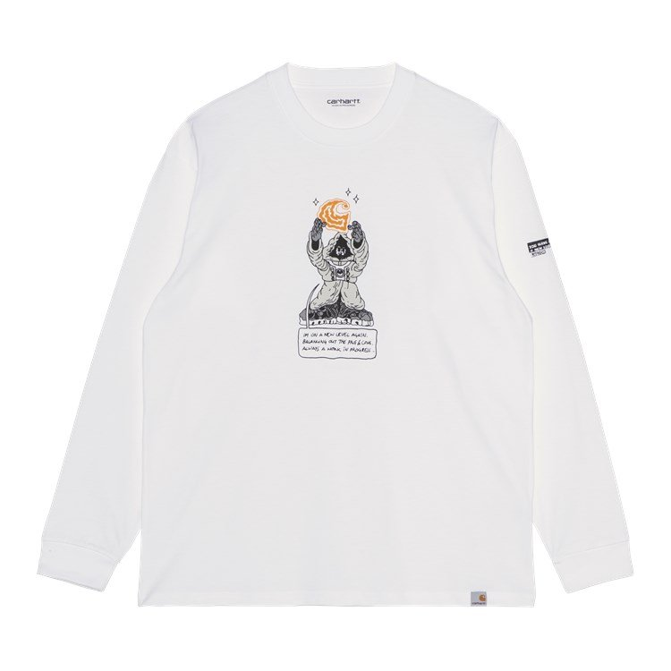L/S KOGANCULT Level T-Shirt White