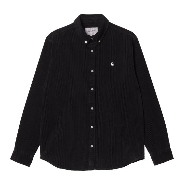 L/S Madison Cord Shirt Black / Wax