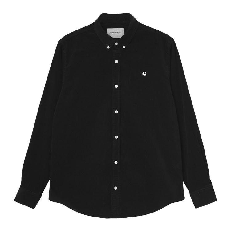 Carhartt WIP L/S Madison Fine Cord Shirt Black / Wax