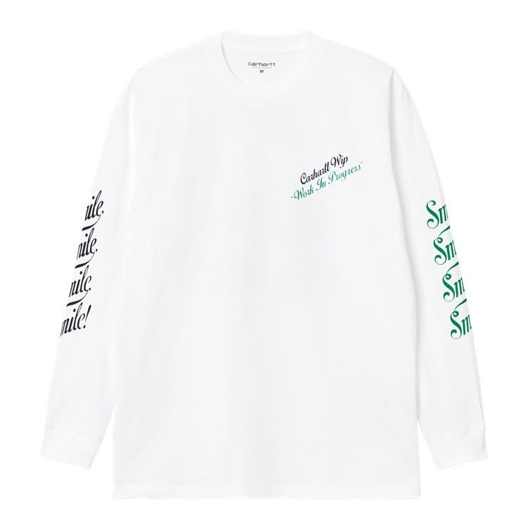Carhartt WIP L/S Smile T-Shirt White