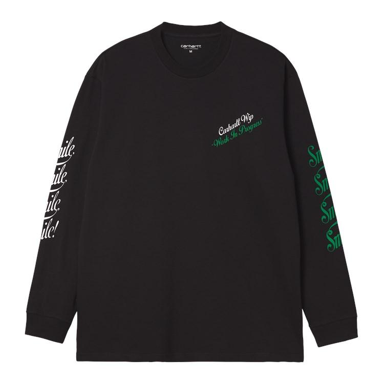 Carhartt WIP L/S Smile T-Shirt Black