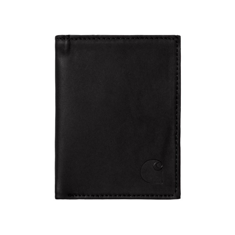 Leather Fold Wallet Black