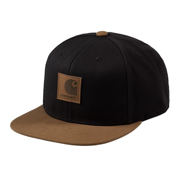 Carhartt WIP Logo Cap Bi-Colored Black / Hamilton Brown