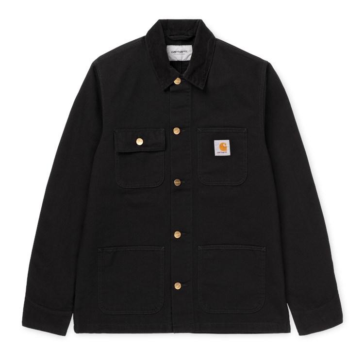 Carhartt-WIP Michigan Coat Black Rinsed