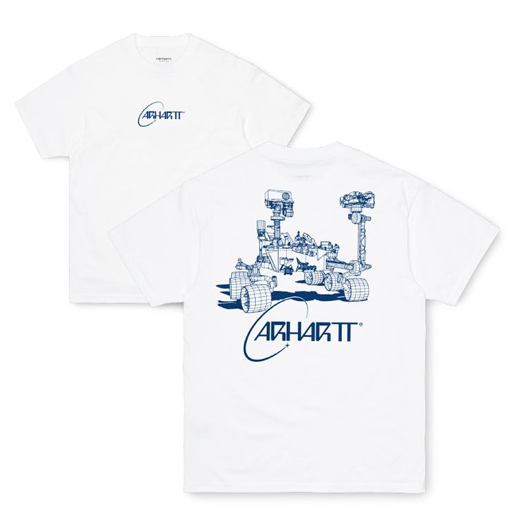 Carhartt WIP S/S Orbit T-Shirt White / Blue