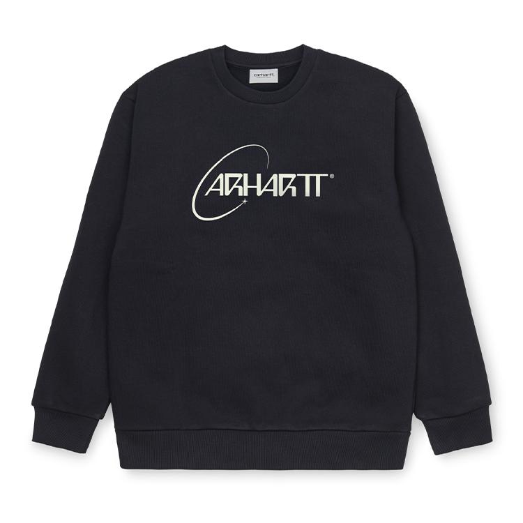 Carhartt WIP Orbit Sweat Dark Navy / White
