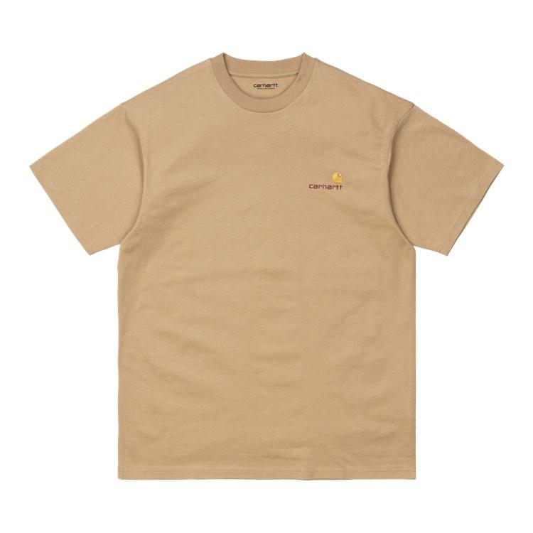 Carhartt WIP S/S American Script T-Shirt Dusty H Brown