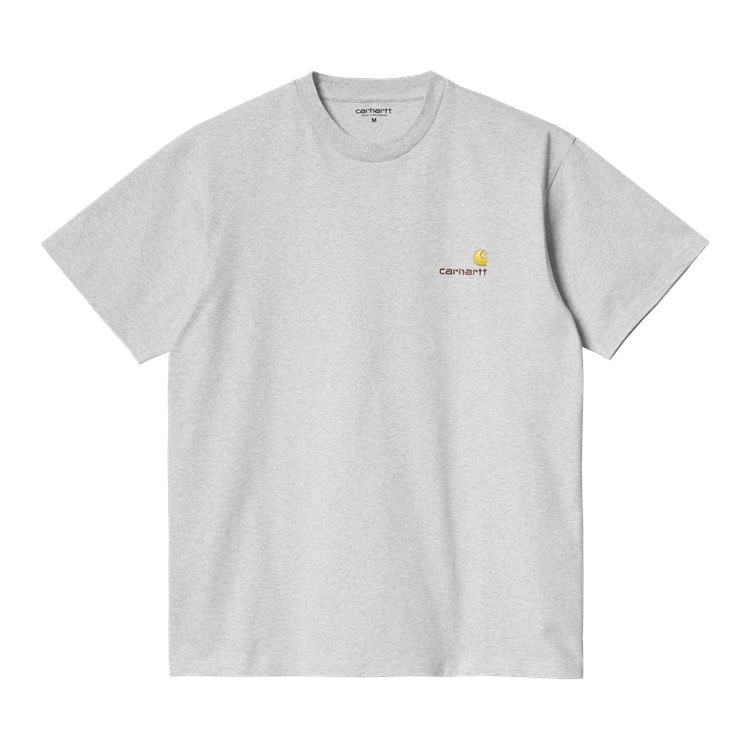 S/S American Script T-Shirt Ash Heather
