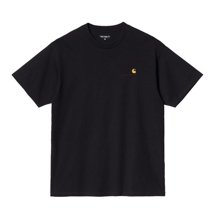 S/S American Script T-Shirt Black