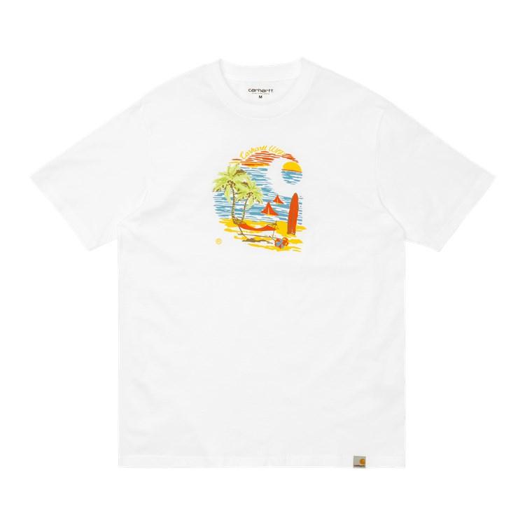 Carhartt WIP S/S Beach C T-Shirt White