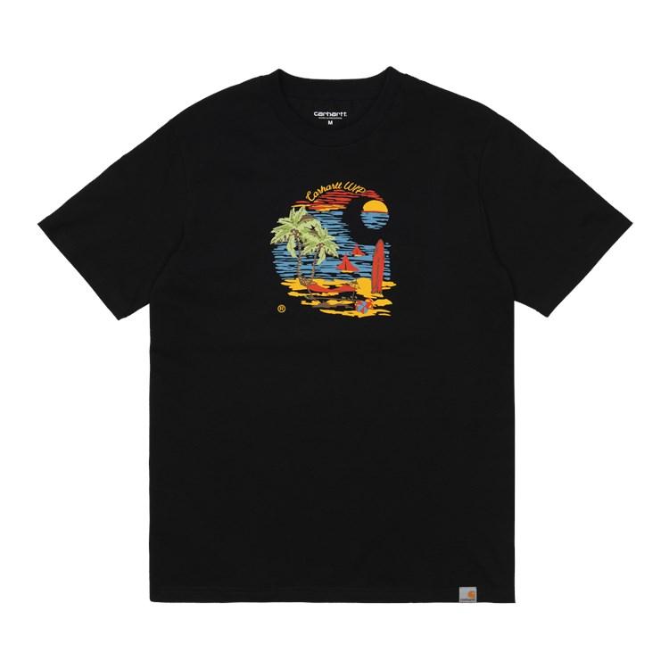 Carhartt WIP S/S Beach C T-shirt Black