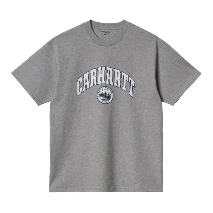 S/S Berkeley Script T-Shirt Grey Heather