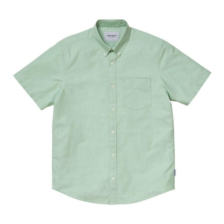 Carhartt WIP S/S Button Down Pocket Shirt Mineral Green