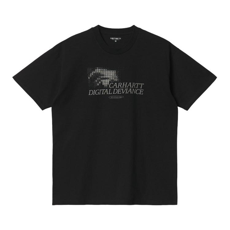 S/S Digital Deviance T-Shirt Black / Hammer
