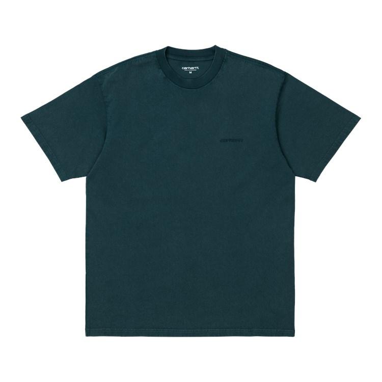 Carhartt WIP S/S Mosby Script T-Shirt Deep Lagoon