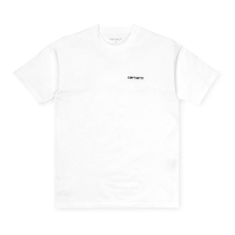 Carhartt WIP W' S/S Script Embroidery T-Shirt White / Black