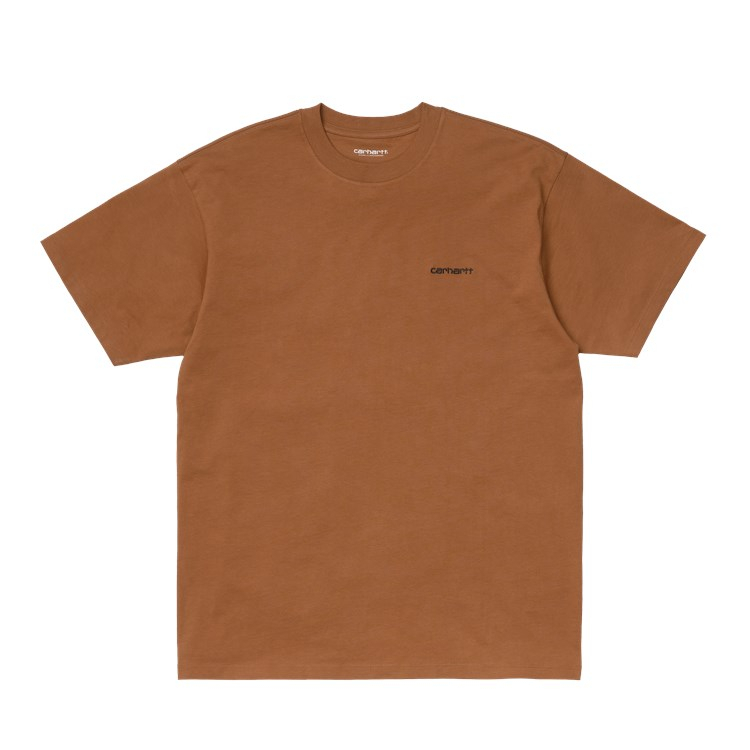 Carhartt WIP S/S Script Embroidery T-Shirt Rum / Black