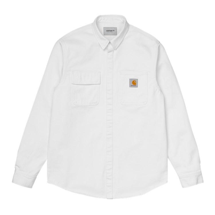 Carhartt WIP Salinac Shirt Jac White Worn Wash