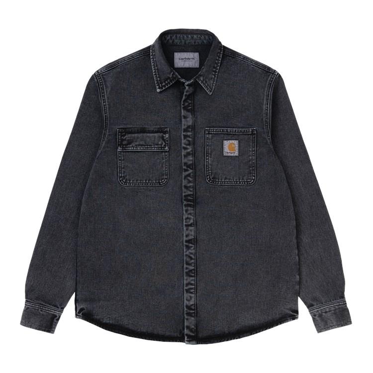 Carhartt WIP Salinac Shirt Jac Black Worn Wash