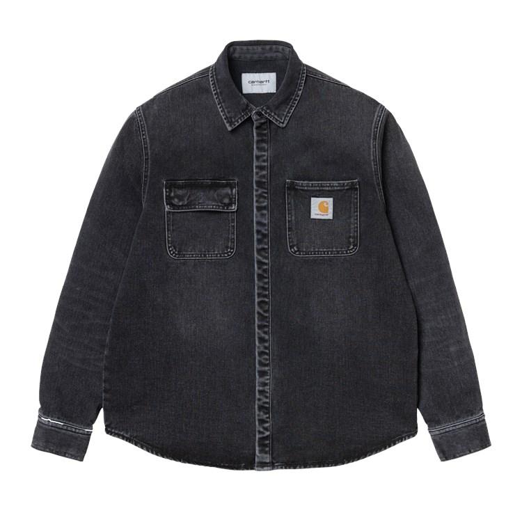 Carhartt WIP Salinac Shirt Jac Black Mid Worn Wash