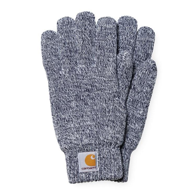 Carhartt WIP Scott Gloves Dark Navy / Wax