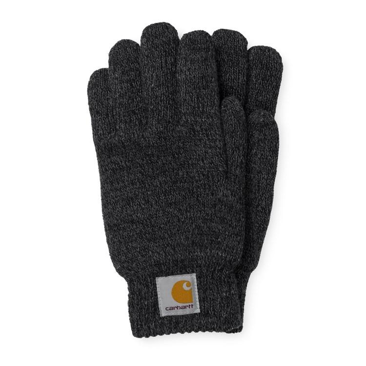 Carhartt WIP Scott Gloves Dark Grey/Black